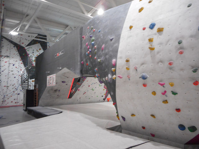 A Bouldering Wall